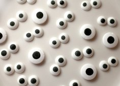 Your spooky creation isn't complete without at least a set of eerie eyeballs.